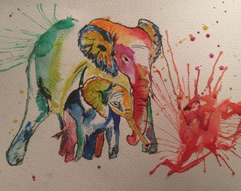 Multicolour Asian Elephants- #2 of Asian Animals Series