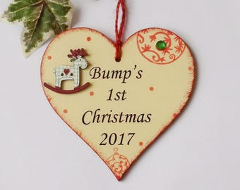 Bumps First Christmas Wooden Gift Plaque