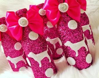 Pink or victorias secret mini apple cider bottles