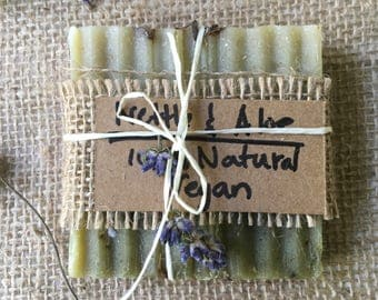 Nettle,  Aloe  and Calendula Soap, Handmade Soap, Herbal Soap, All-Natural Soap, Lavender and Peppermint Soap, Vegan Soap,