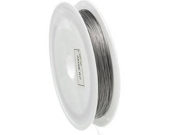 Roll 70M wire steel 0.3 mm grey Pearl