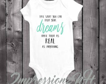 Cute inspirational song lyrics baby onesie, and one-piece bodysuit shirt