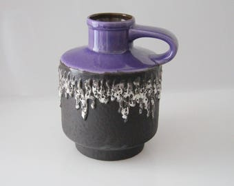 Stunning Carstens 1531 - 20 West German Pottery Mid Century, Fat Lava