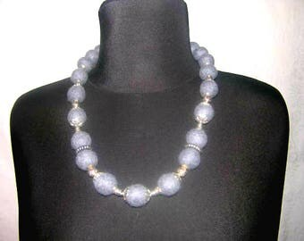 Felt beads Natural Wool Beads Wool Jewellery Felting necklace Gray beads Collana lana Needle felting Merino wool