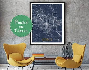 EUGENE Oregon City Map Eugene Oregon Art Print Eugene Oregon poster Eugene Oregon map art United States of America Poster Jack Travel