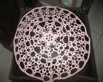 DOILY cotton pink clear diameter 42 cm