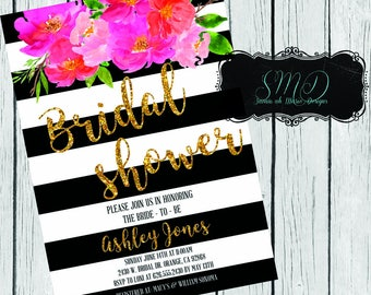 Kate Spade Inspired Bridal Shower Invite