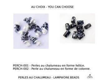 Perles au chalumeau faite à la main - conditionnent 50g - au choix - you can choose