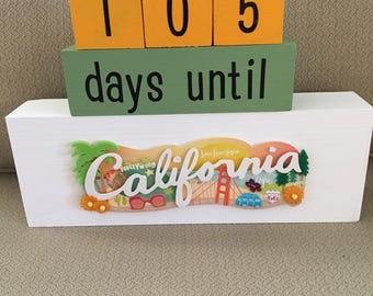 California Vacation Countdown