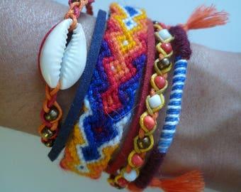 Bracelet multicolored Bohemian multi strand