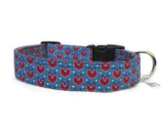Liberty Izzy Fabric Dog Collar, Liberty Fabric Dog Collar, Collar, Collars For Tiny Dogs, Dog Collars UK, Designer Dog Collar,