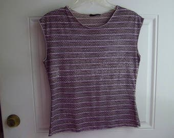 Lavender Sleeveless Pull-over Top by Jaipur, Size Small, Vintage 90's