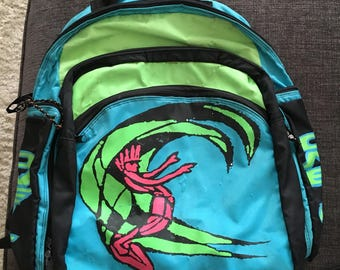 Vintage oneill surf company back pack 90s neon