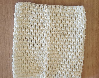 sale 3.3 instead of 3.80.BUSTIER stretchable ivory 0-16 months crochet for creating baby tutu dress