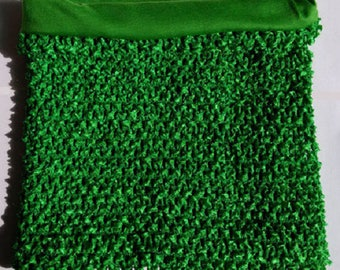 STRAPLESS stretch Double 7-10 years old dark green crochet for making tutu dresses costumes