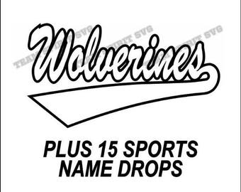 Wolverines Swoosh Download Files - SVG, DXF, EPS, Silhouette Studio, Vinyl Cutting Files, Digital Cut Files - Use with Cricut and Silhouette