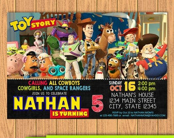Toy Story Invitation, Toy Story Invites, Toy Story Birthday Invitation, Toy Story Card, Toy Story Party, Printables