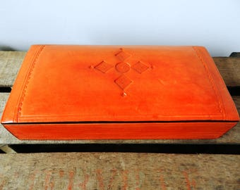 Leather Tuareg craft box