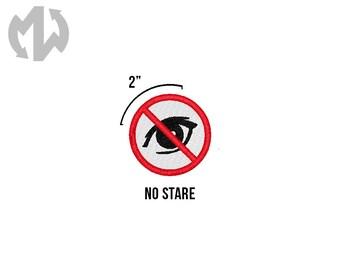 "NO STARE 2"" round Service Dog Patch"