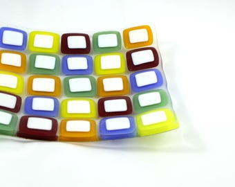 Glass Mosaic Plate (Multi-Coloured)