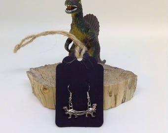 Tibetan Silver Dinosaur Earrings