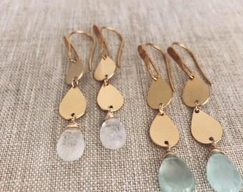 Mia earrings- moonstone
