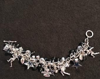 Dallas Cowboys Football Charm Bracelet