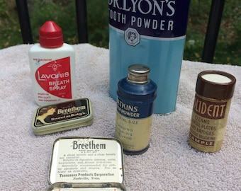 Vintage Tooth Polishes and Mouth Washes