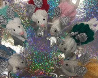 Fairy Christmas Mice Tree Decorations