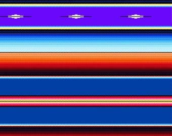 "Last Fat Quarter, Royal Fiesta Stripe Fabric from the Fiesta Collection by Elizabeth's Studio, Serape, Sombrero 18""x22"""