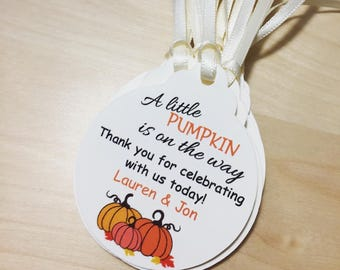 Fall Baby Shower Favor Tags, Pumpkin Baby Shower favor tags,Party Favor tags,Pumpkin Favor Tags,Fall Favor Tags