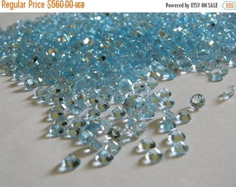 on sale Exclusive quality sky blue topaz faceted round cut stone pack of 100 carat size 6 mm approx