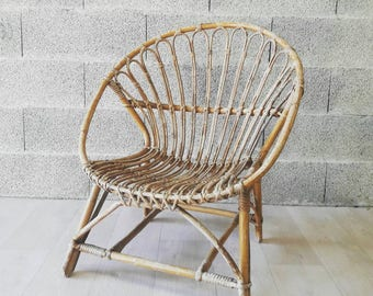 Seventies rattan chair
