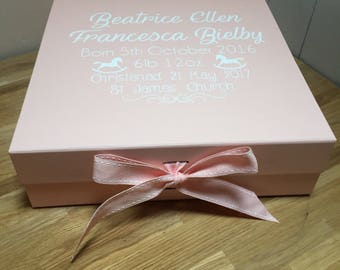 Christening box, memory box, baby memory box, new baby memory box, keepsake box , wedding keepsake memory box
