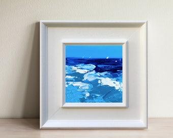 Ocean Oil Canvas Ocean Art Painting Abstract Ocean Wall Art Wave Art Ocean  Blue Art Ocean