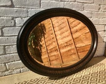 Decorative Antique Vintage Oval Mirror 20s 30s ca