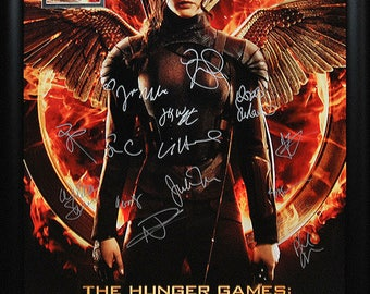 The Hunger Games Mockingjay Part 1 - Signed Movie Poster Framed + COA