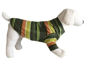 Small and Large Striped Dog Shirt, gear, clothing
