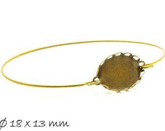 3 Bracelet Blanks version 18 x 13 mm, Bronze