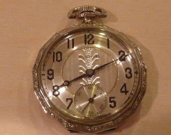 Vintage Stratford/Langendorf Pentadecagon Pocket Watch - 35.80mm Movement