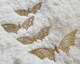 Brass Butterflies, Butterflies, Brass, Korea, Brass Decor, Brass Insects, Brass Animals, Butterfly Decor, Hanging Butterflies, Wall Decor