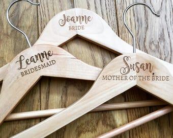 Wedding hanger, engraved hanger, bridal hanger, personalised hanger