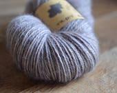 Ardoise - Echeveau de laine alpaga teint à la main