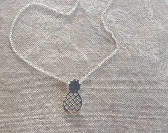 "Short necklace Silver 925/000 ""pineapple"""