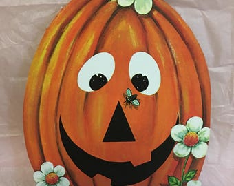Vintage Happy Pumpkin