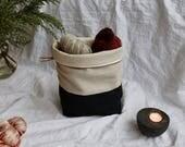 CHARCOAL (large) - Knitting project bag / Zipper project bag / Zipper pouch / Project bag / Project bag for knitting