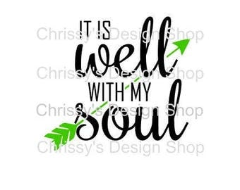 It is well svg / bible svg / inspirational svg / sign template / dxf / bible clip art / song svg / religious svg / christian cut files