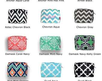 Make-up Pouch-Cosmetic Bag-Monogram Cosmetic Bag-Personalized Cometic Bag-Make-up Bag-Make-up-Travel bag-Monogram Make-up Bag