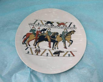 Limoges La Seynie Plate pattern Capisserie de Bayeux 50's