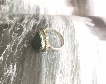 Bohemian Sterling Silver Handmade Ring with Turquoise Stone 925